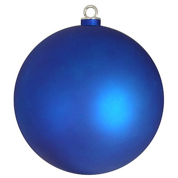 Matte Lavish Blue Commercial Shatterproof Christmas Ball ...