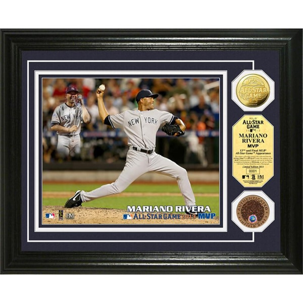 Mariano Rivera 2013 MLB All-Star Game MVP Gold & Dirt Coin Photomint