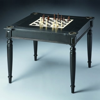 Superieur Ebony Chess / Checkers Game Table