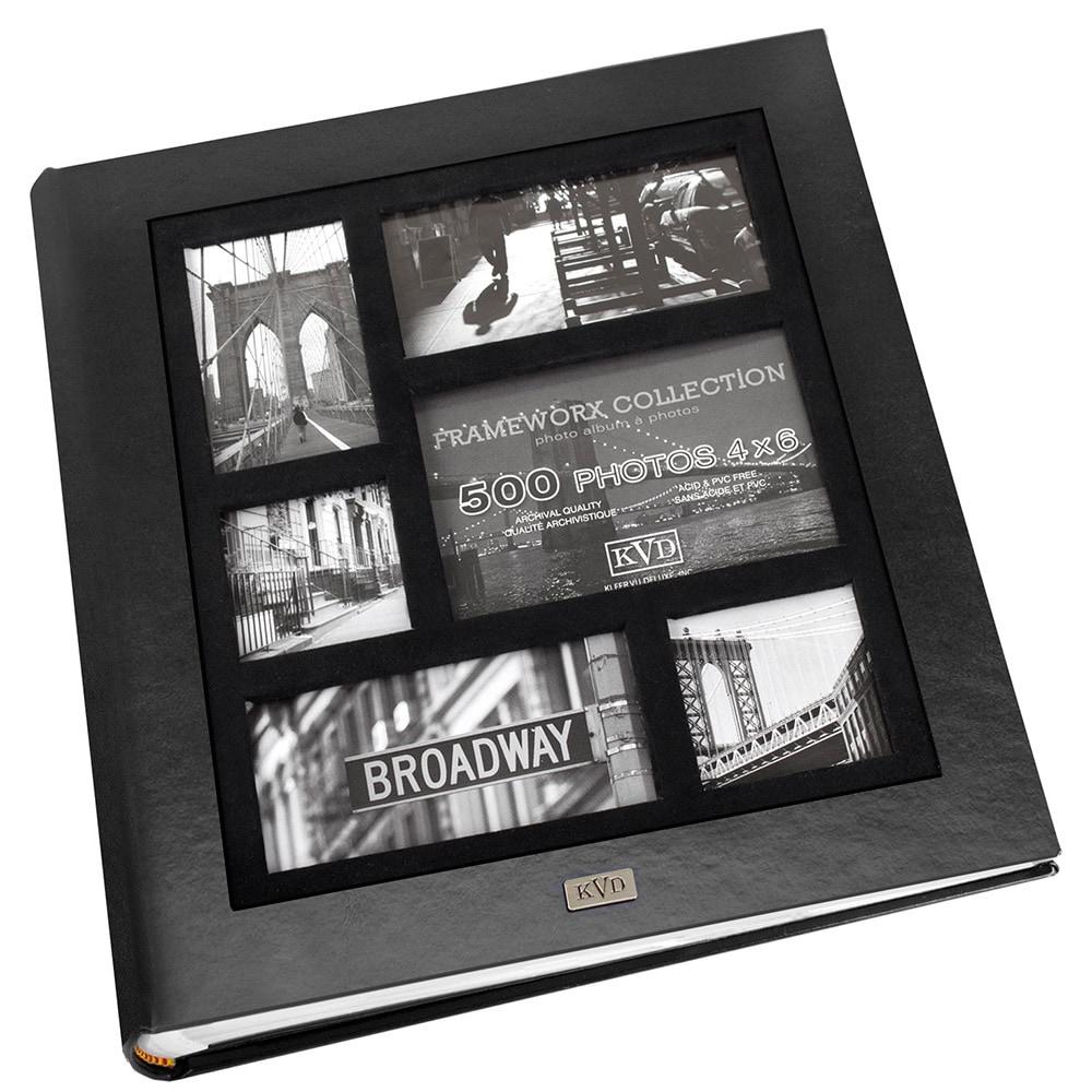 Kleer Vu Frame Collage Leatherette Bookbound 500-photo Me...
