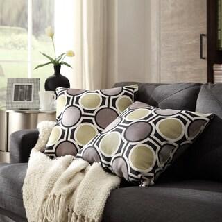 INSPIRE Q Clybourn 18-inch Toss Mod Circles Accent Pillow (Set of 2)