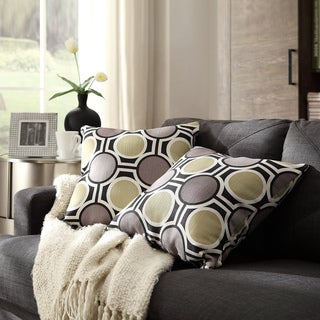 INSPIRE Q Clybourn 18-inch Toss Mod Circles Accent Pillow (Set of 2)