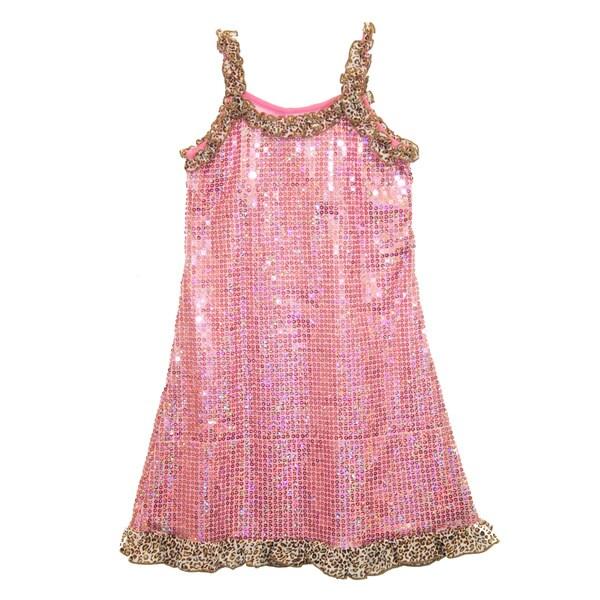 Lipstik Girls Pink Sequin Tank Dress