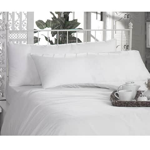 White Egyption Cotton and Microfiber Body Pillowcases (Set of 2)