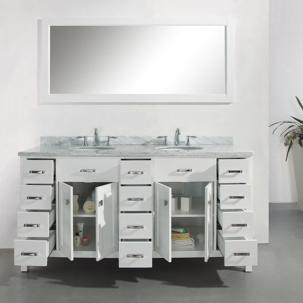 Virtu USA Caroline Parkway 72 Inch Double Sink Bathroom Vanity Set   Free  Shipping Today   Overstock.com   15566728