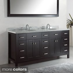 virtu usa caroline parkway 72 inch double sink bathroom vanity set free shipping today overstockcom 15566728