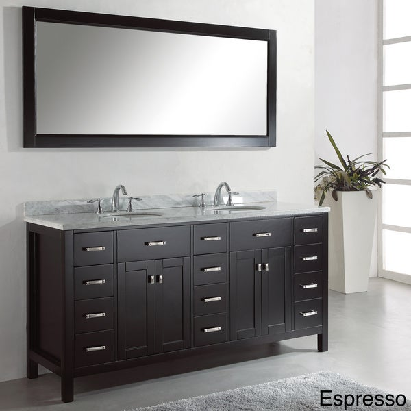 Virtu usa caroline parkway 72 inch double sink bathroom for Virtu usa caroline 36 inch single sink bathroom vanity set