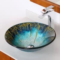 Elite 1309 Modern Design Tempered Glass Bathroom Vessel Sink