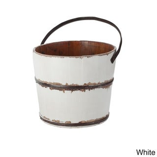 Antique Revival Round Wooden Wash Bucket