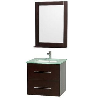 Wyndham Collection Centra Single-sink Espresso 24-inch Vanity and Mirror Set