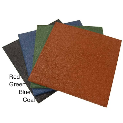 Rubber-Cal Eco-Sport 1-inch Interlocking Flooring Tiles - 1 x 20 x 20-inch Rubber Tile - 3 Pack, 8.5 Sqr/Ft Coverage - 20 x 20