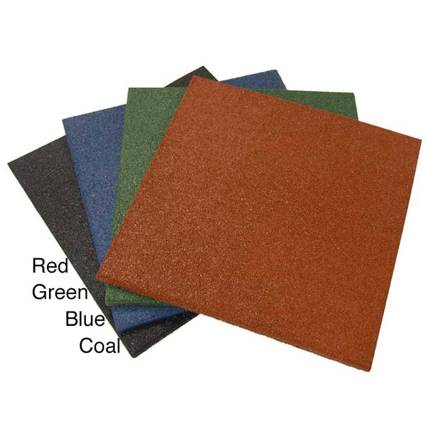 Rubber Cal Eco Sport 1 Inch Interlocking Flooring Tiles