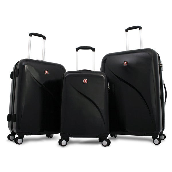 Wenger Swiss Gear 3-Piece Hardside Lightweight Spinner Upright Luggage