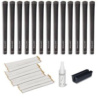 Golf Pride Tour Velvet 0.600 Ribbed - 13pc Grip Kit (with tape, solvent, vise clamp)