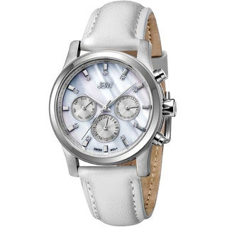 JBW Women's 'Marilyn' White Leather Band Watch