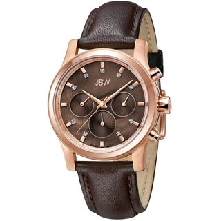 JBW Women's 'Marilyn' Leather Band Analog Watch