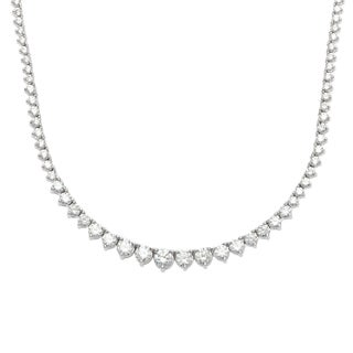 Sterling Silver Cubic Zirconia Tennis Necklace
