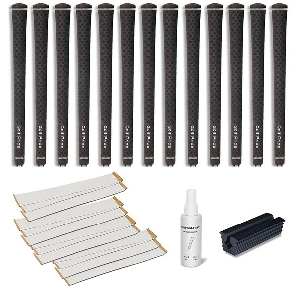Golf Pride Tour Velvet Midsize - 13pc Grip Kit (with tape, solvent, vise clamp)