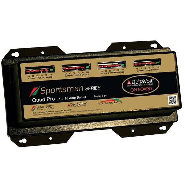 Dual Pro 10 Amp Sportsman Series 4 Bank Charger