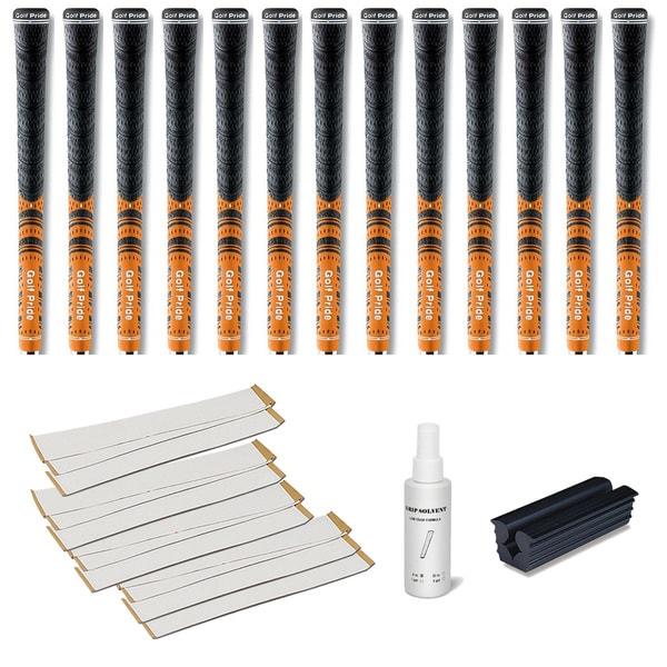 Golf Pride New Decade MCC Orange - 13pc Grip Kit (with tape, solvent, vise clamp)