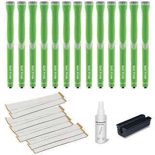 Golf Pride Niion Green/White - 13pc Grip Kit (with tape, solvent, vise clamp)