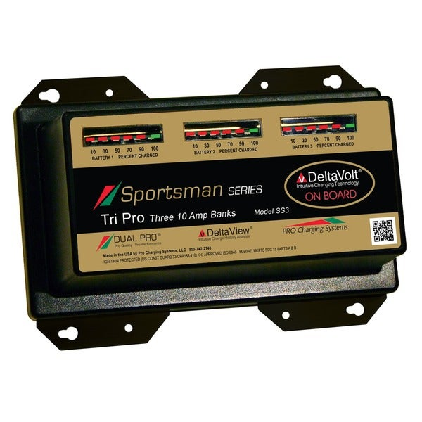Dual Pro Sportsman Series 3 Bank Charger 10 AMP/Bank SS3