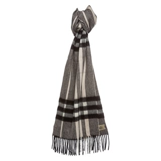 Burberry Charcoal Check Cashmere Scarf