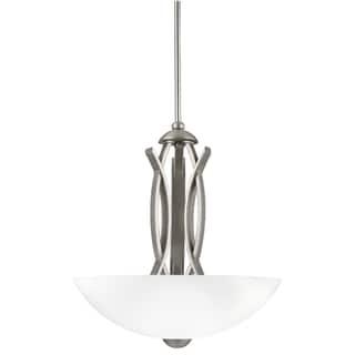 Transitional 3-light Brushed Nickel Pendant