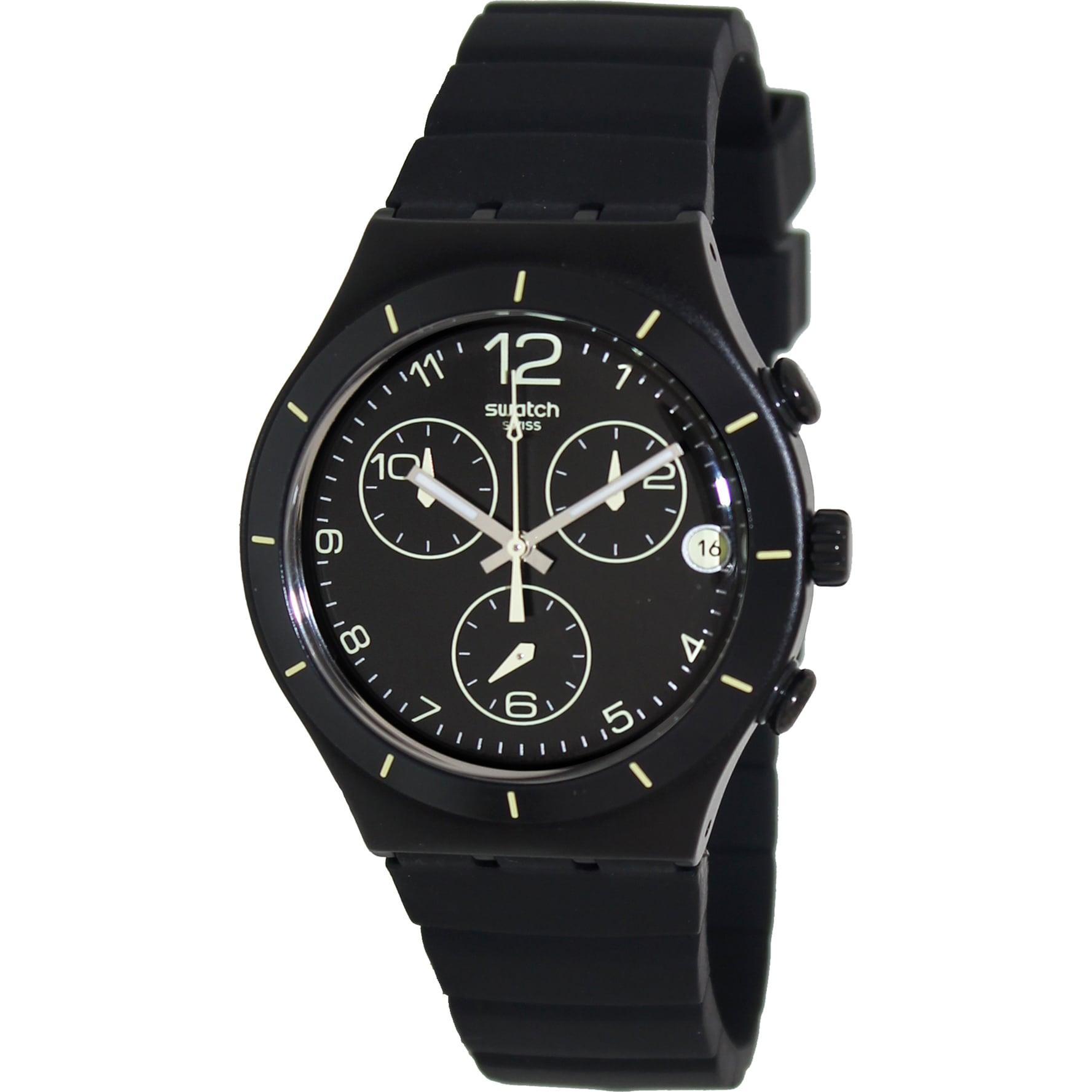Swatch Men's 'Irony' Black/ Yellow Swiss Quartz Watch (YC...