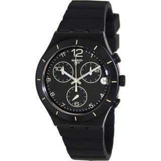 Swatch Men's 'Irony' Black/ Yellow Swiss Quartz Watch