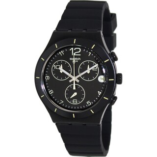Swatch Men's 'Irony' Black/ Yellow Swiss Quartz Watch