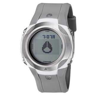 Nixon Men's 'The Delta' Gray Stainless Steel and Nylon Compass Watch