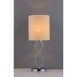 One Night 8-inch Crystal Chrome-finished Table Lamp