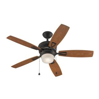 Transitional 48-inch Aged Bronze Ceiling Fan