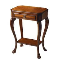Butler Traditional Rectangular Console Table with Drawer - Medium Brown
