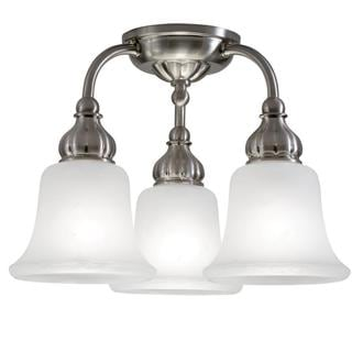 Transitional 3-light Brushed Nickel Semi Flush Mount