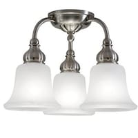 Lnc 3 light glass jar pendant lights semi flush mount ceiling light transitional 3 light brushed nickel semi flush mount aloadofball Choice Image