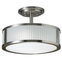 Shop ivy court 2 light 12 inch flush mount free shipping today clay alder home sherman transitional 2 light brushed nickel semi flush mount aloadofball Gallery
