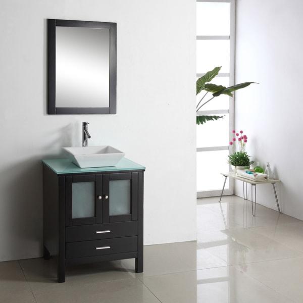 Shop Virtu Usa Brentford 28 Inch Single Sink Bathroom Vanity Set Free Shipping Today