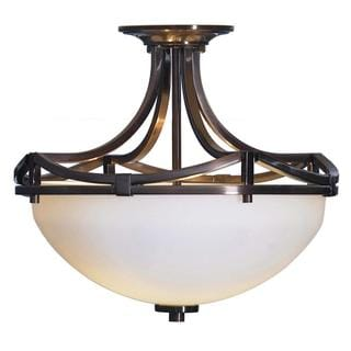 transitional 2-light oil-rubbed bronze semi flush - free shipping