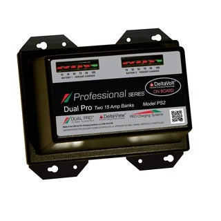 Dual Pro Professional Series 2 Bank Charger 15 AMP/Bank PS2