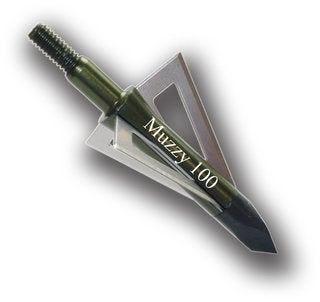 Muzzy Broadhead-3Bld-100 Grain-Screw 225