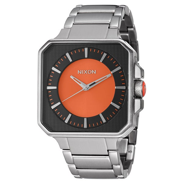 b920587b2 Shop Nixon Men's 'The Platform' Stainless Steel Quartz Watch - Free  Shipping Today - Overstock - 8239109