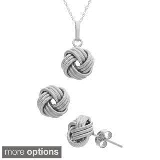 Gioelli Sterling Silver Love Knot Jewelry Set