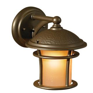 Transitional 1-light Outdoor Antique Bronze Wall Fixture