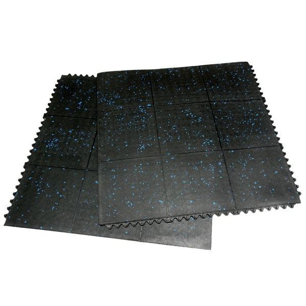 Rubber-Cal Revolution Gym Tiles Interlocking Floor Tiles 2 Pack