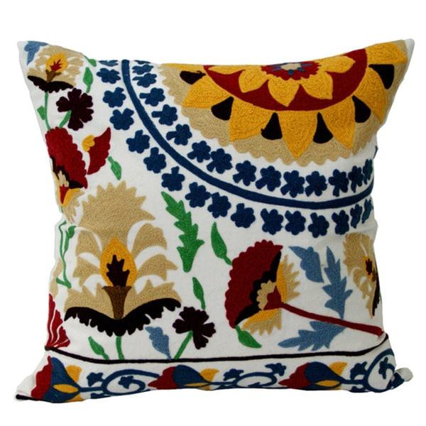 Sunshine Suzani Decorative Pillow (India)