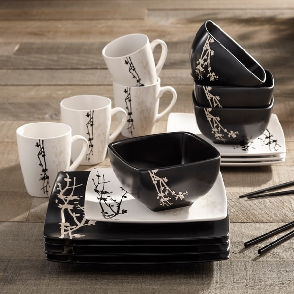 American Atelier Twilight Blossom 16-piece Dinner Set