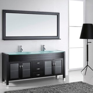 Virtu USA Ava 72-inch Double Sink Bathroom Vanity Set
