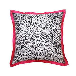 Lady Paisley Pink Decorative Pillow (India)